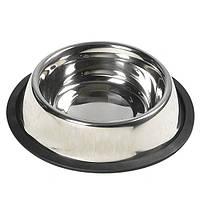 Миска Karlie-Flamingo Dish Steel Rim для собак, 1.8 л