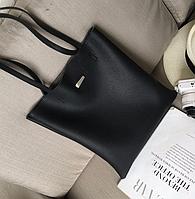 Каркасная черная женская сумка, фото 1