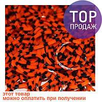 Резинки для плетения Loom Bands, оранжевые с черными крапинками 200 шт. / Резинки для плетения браслетов
