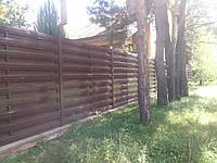 Секция двухсторонняя стандарт 2м*1,25м,штакетный забор