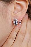 Серебряные серьги Агра с синими камнями, фото 3