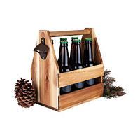 Ящик для  бутылок из натурального дерева, модель 1