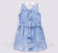 Джинсовое платье для девочки. ТМ Бемби (р.98 - р.134)