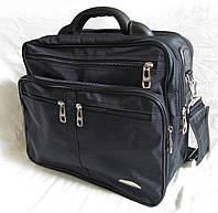 Мужская сумка Wallaby 25275 черная полукаркасная с расширением через плечо папка портфель А4 35х29х20+3см