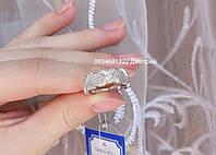 Оригинальное серебряное кольцо Икс, фото 1
