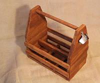 Ящик для  бутылок из натурального дерева, модель 3