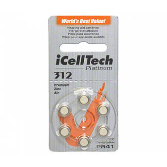 Батарейки для слухового аппарата №312 ICellTech, фото 2