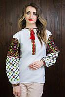 Шикарная женская вышиванка из льна