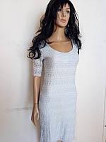 Платье гипюровое голубое H&M