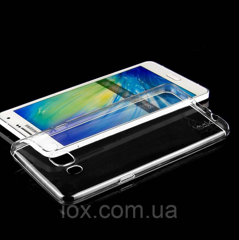 Cиликоновый черный прозрачный чехол для Samsung Galaxy J710 2016