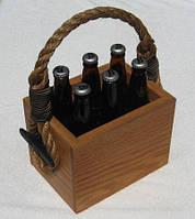Ящик для  бутылок из натурального дерева, модель 4