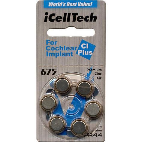 Батарейки для слухового аппарата IcellTech 675CL Plus ( кохлеарных имплантатов), фото 2