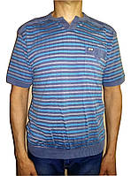 Бирюзовая рубашка без воротника