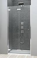 Radaway Складная душевая дверь bi-fold (двери-гармошка) в нишу Arta DWB 100 L, профиль хром, стекло прозрачное.