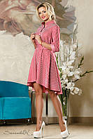 Красивое нарядное женское платье  2188 бело красная полоска