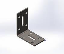 Уголок перфорированный регулируемый 50x55x30x1.8. ТМ Кольчуга (Kolchuga)