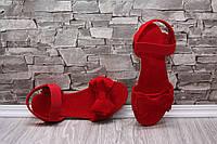 Женские босоножки с бантом цвет красный, 36,37,38рр.