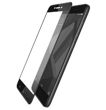 Full Glue защитное стекло для телефона Xiaomi Redmi 4X - Black