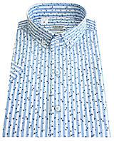 Мужская рубашка с коротким рукавом № Т12-27  -12/1 цв.3