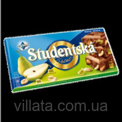 Шоколад молочный с арахисом и грушей Studentska 180 Nestle