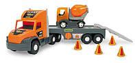 """Машина """"Super Truck"""", с бетономешалкой, в кор.27*82*20 см, ТМ Wader (3шт)"""