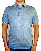 Мужское поло синего цвета