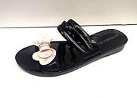 Шлепанцы женские силиконовые летние черные KF0446
