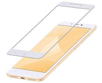 Full Glue защитное стекло для Xiaomi Redmi 4X - White