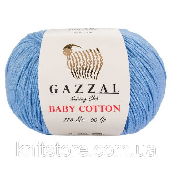 Пряжа Gazzal Baby Cotton Голубой