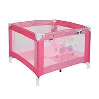 Игровой манеж Bertoni PLAY (pink kitty) , квадратной формы, розовый манеж