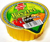 Паштет с домашней птицы и сладким перцем -паприкой EvraMeat Pasztet z drobiu z Papryka 130g.