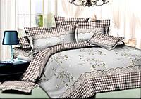 Комплект постельного белья полуторный, ранфорс 100% хлопок. Постільна білизна. (арт.7260)