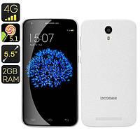 Строгий сенсорный смартфон Doogee Y100 Plus 2G/16Gb. Хорошее качество. Доступная цена. Дешево.  Код: КГ1239
