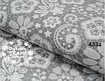 "Лоскут ткани №433а  ""Бабушкины кружева"" белые на сером, фото 2"