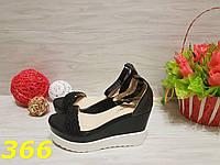 Женские босоножки черные на платформе, 36 38 39 40р.