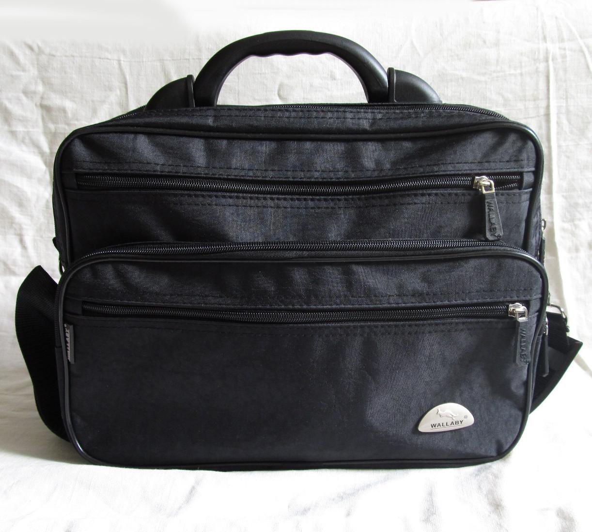 31ac1af6800a Мужская сумка Wallaby 26531 черная полукаркасная барсетка через ...