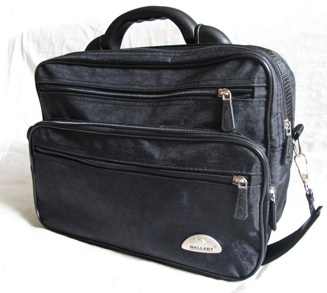 b81821f27ef9 Мужская сумка Wallaby 26531 черная полукаркасная барсетка через ...