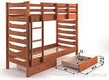 Кровать Троя двухъярусная 90 (Мебигранд/Mebigrand) 1055х2030(2130)х1740мм , фото 2