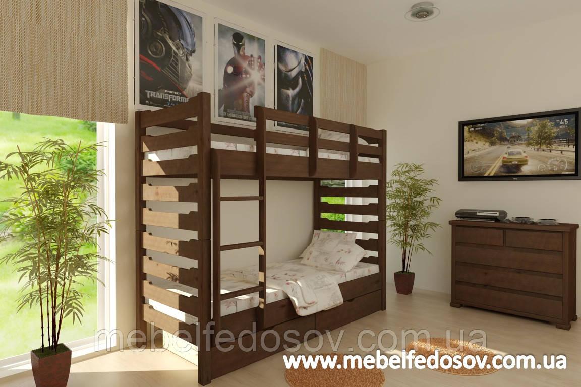 Кровать Троя двухъярусная 90 (Мебигранд/Mebigrand) 1055х2030(2130)х1740мм