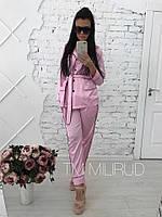 Женская шёлковая пижама со штанами в разных цветах