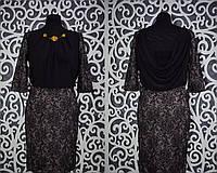 """Красивое женское платье """"набивное кружево"""" Турция 42, 44 размер норма"""