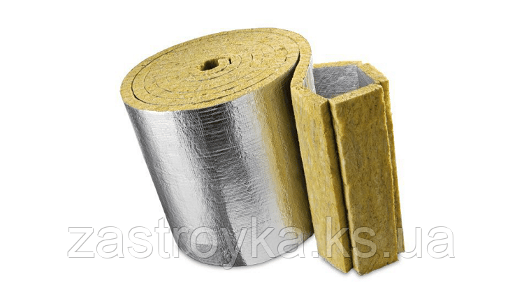 Теплозвукоизоляция Knauf Insulation (фольгированный мат) 8 кв.м, 30x1000x8000мм
