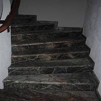 Лестница из натурального камня Bidasar Green (Ступень) 20 мм