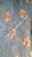 Тюль оранжевый кленовый лист