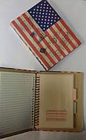 Блокнот, на кольцах, 100 листов, 80 гр., одноцветная печать, 14,6*20,9см