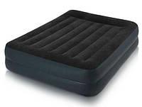 Надувная кровать со встроенным электронасосом intex 64124