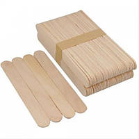 Шпатель деревянный для нанесения воска 50 шт