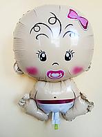 """Фольгированный шарик """"Ребенок""""  Девочка 47×71 см"""