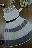 Женское короткое платье с юбкой  из фатина Италия