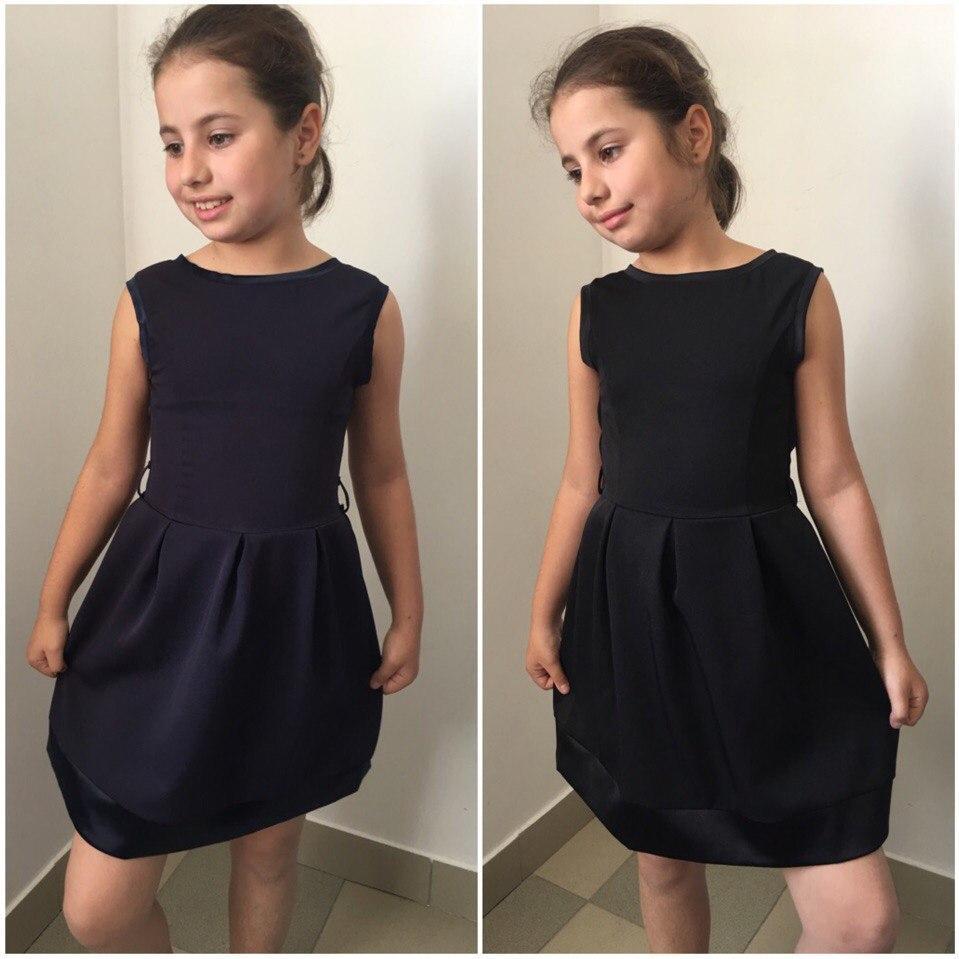 """Школьное детское платье для девочки """"Rossi"""" с расклешенной юбкой (2 цвета)"""